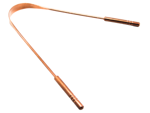 Bambrush copper tongue scraper