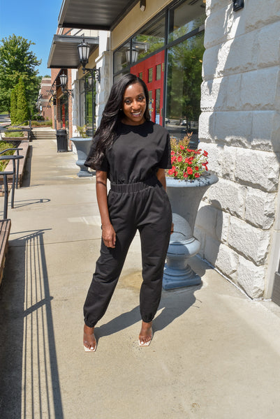 Errands Day Jumpsuit ( Black)