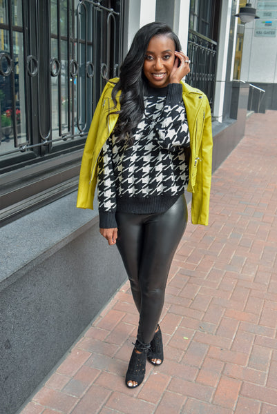 Houndstooth Sweater Love
