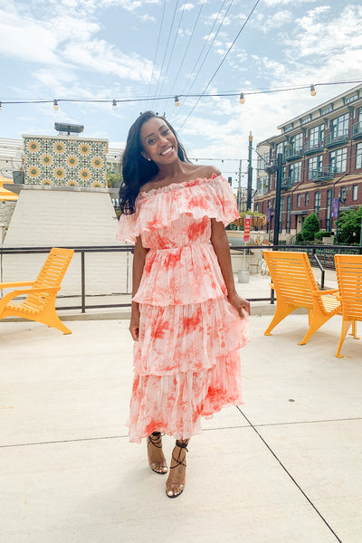 Tie Dye Fun Pleated Dress