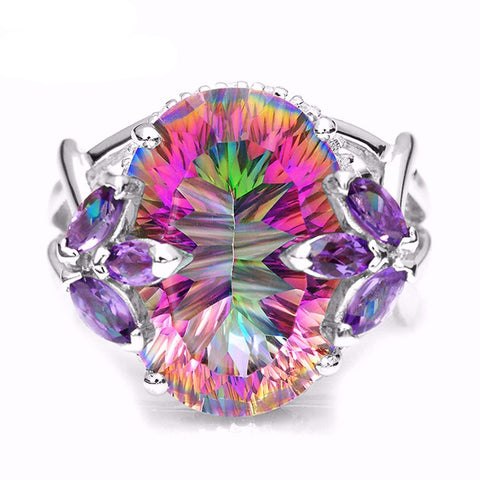 The Flower-Mystic Topaz - 925 Sterling Silver