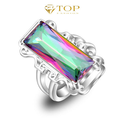 The Maze-Mystic Topaz Ring