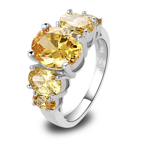 Brilliant Citrine Silver Ring