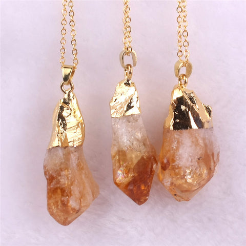Natural Citrine (The Abundance Stone) Necklace - HiddenCrystals