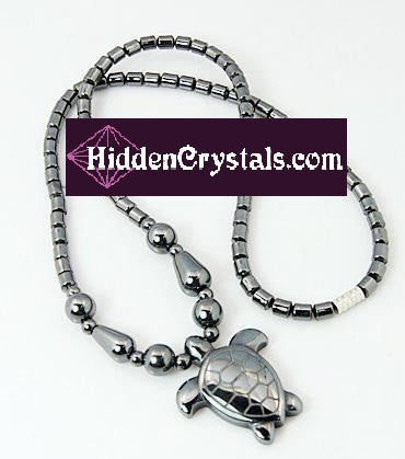 Hematite Heaven & Earth Turtle Necklace - HiddenCrystals