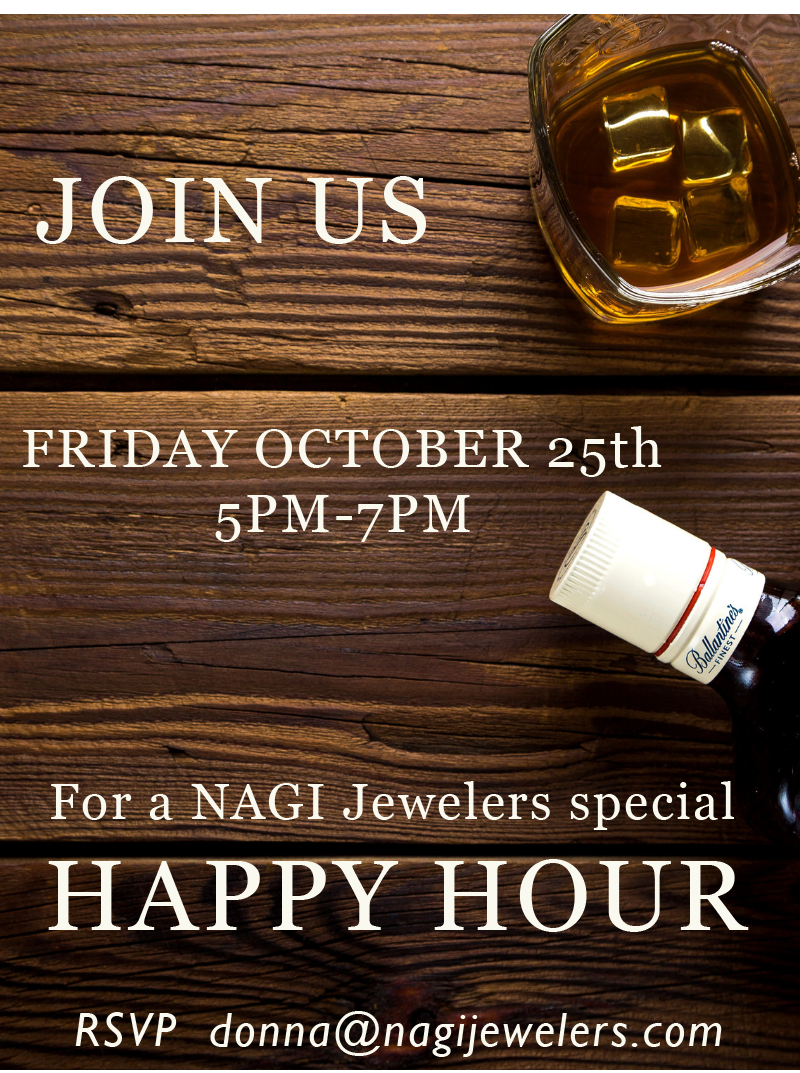 Happy Hour: Friday Oct. 25th 2019, 5-7PM