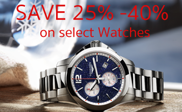 Black Friday / Cyber Monday Specials SAVE 25% on Regular Priced Watches in Stock