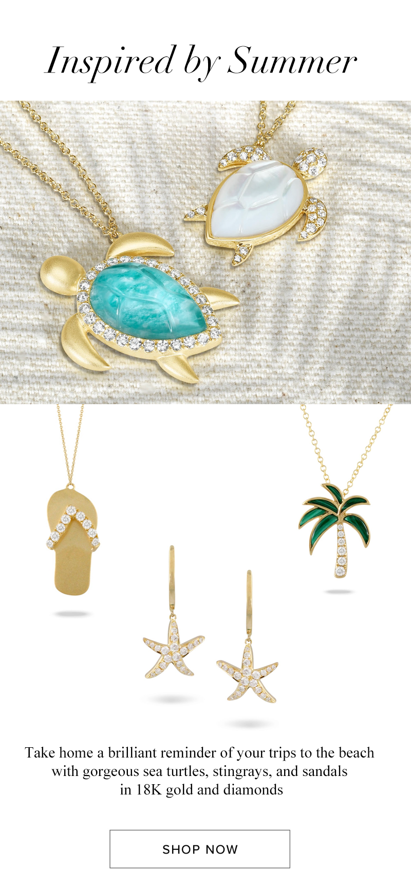 Doves beach themed earrings necklaces palm tree flip flops