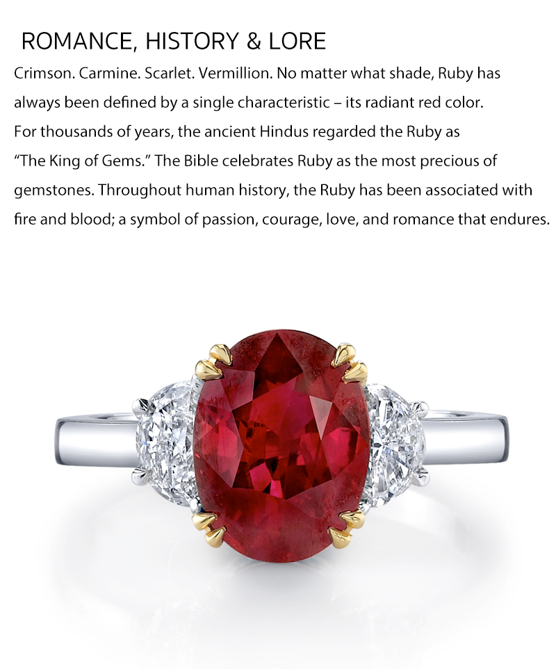 july birthstone ruby diamond ring