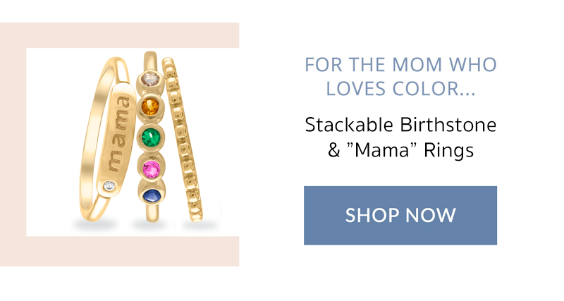 mothers day stackable birthstone rings