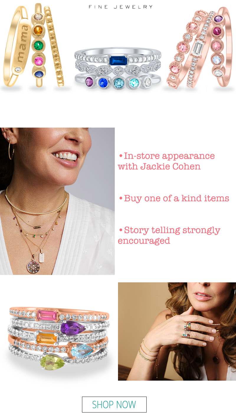 my story fine jewelry trunk show jackie cohen in store meet the designer