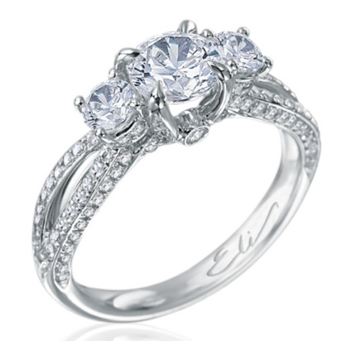 Three Stone Diamond Engagement Ring - 4th of July Blog
