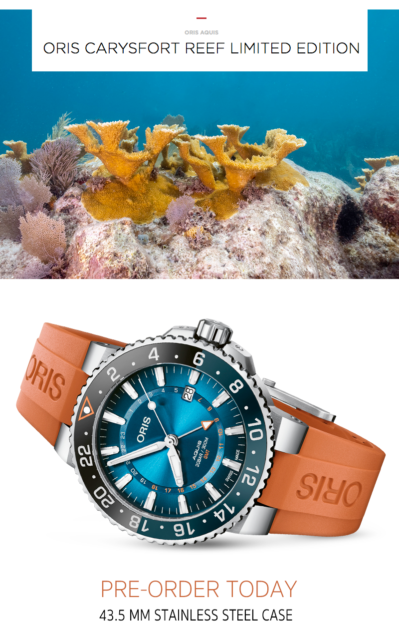 Oris carysfort Reef watch 2020 limited edition