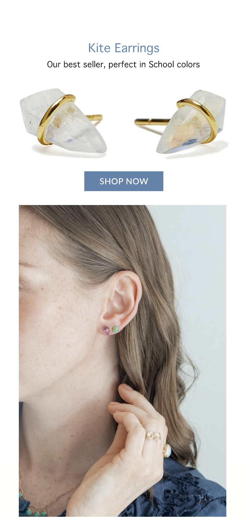 page kite earrings small