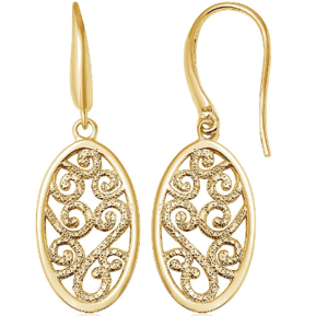 Charles Garnier Gold Filigree Earrings – Less than $100!