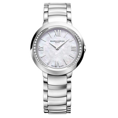 Baume & Mercier Promesse Diamond Bezel Ladies Steel Quartz Watch