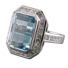 Aquamarine bridal ring