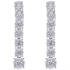 Memoire Bouquet Diamond Drop Earrings