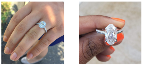 Close Up of Engagement Rings