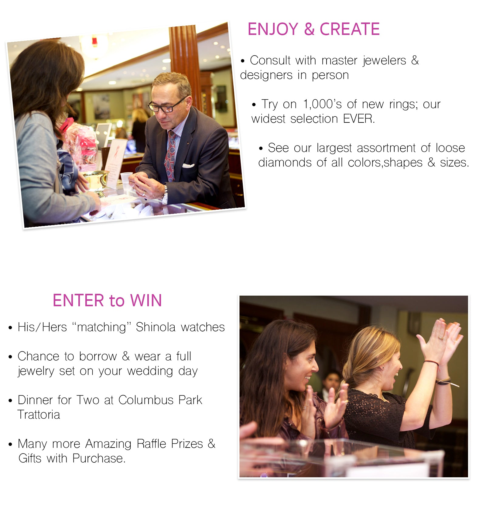 win amazing prizes, widest selection of wedding bands engagement rings