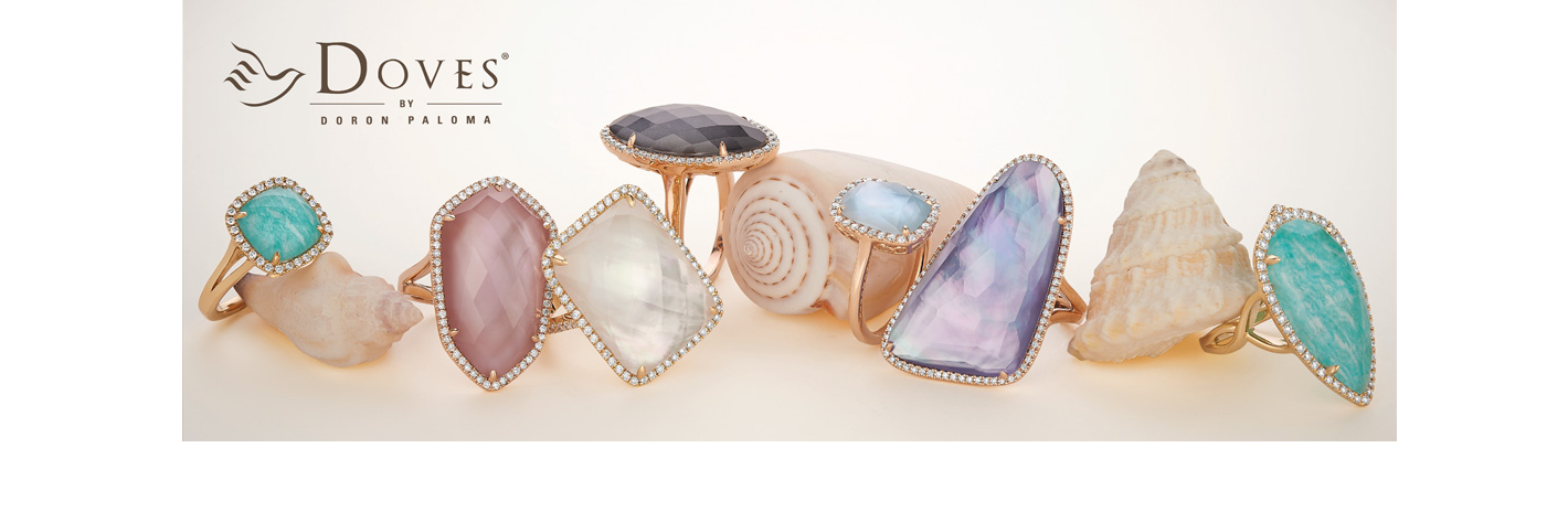 doves color gemstone rings
