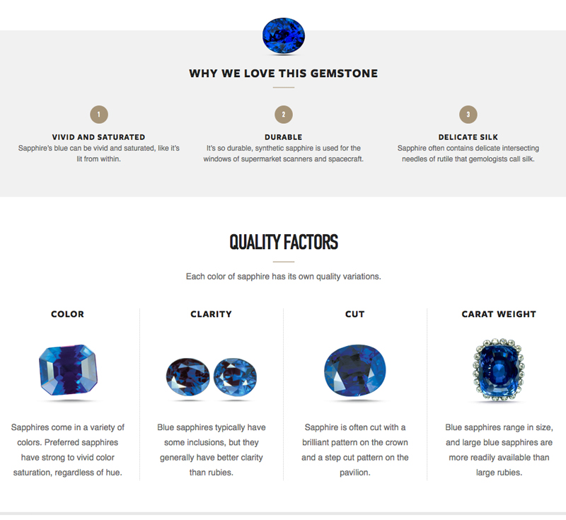 sapphire what to look for qaulity