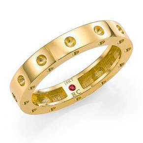 Roberto Coin Pois Moi 18K Yellow Gold Stackable Round Ring