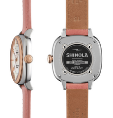 Shinola Ladies 36mm Gomelsky Mother of Pearl Dial Orchid Watch 10000276