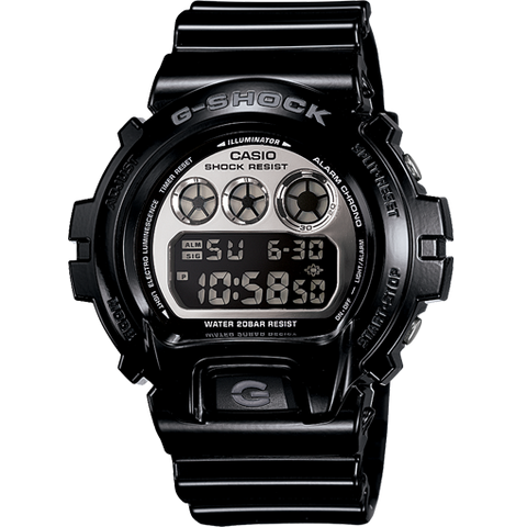 Casio G-Shock Black Mirror Metallic Digital Watch Men's DW6900NB-1