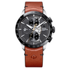 Baume & Mercier Limited Edition 44MM Clifton Indian Self-Winding Brown Calfskin Chronograph Watch M0A10402