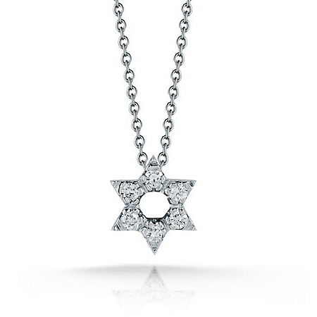 Roberto Coin Tiny Treasures Diamond Star Of David Necklace Pendant