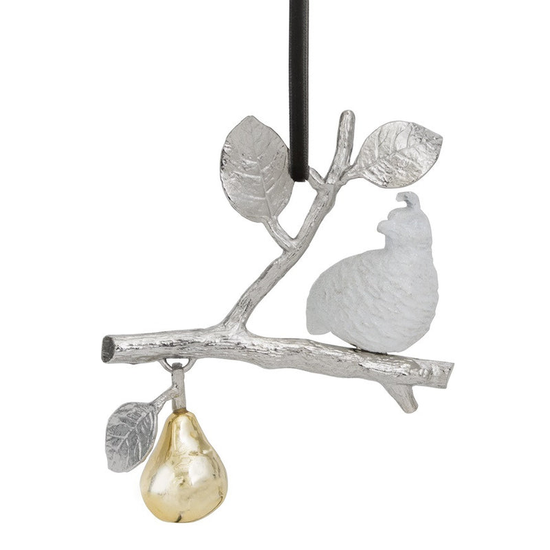 partridge in a pear tree christmas ornament