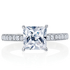 Royale Princess Diamond Platinum Engagement Ring 2 Carat