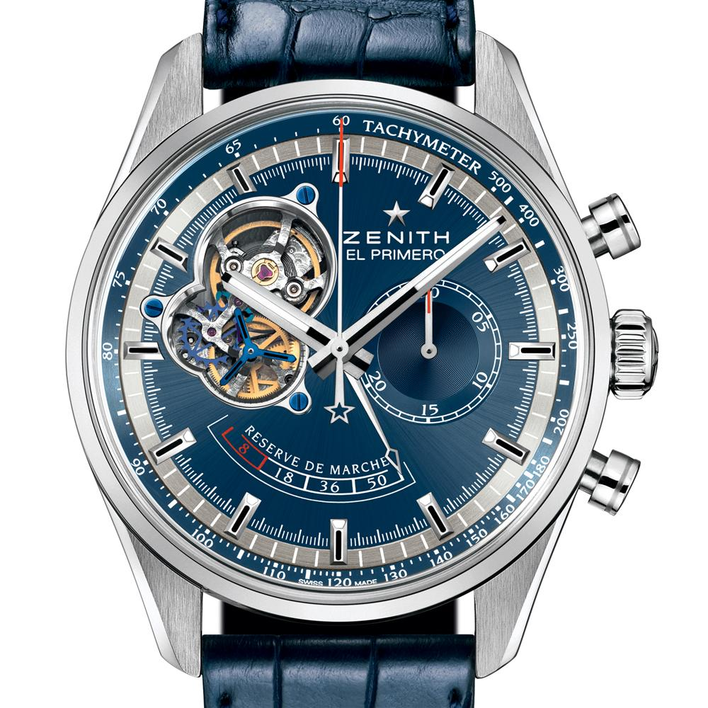 zenith el primero chronomaster power reserve blue limited ed charles nagi jewelers. Black Bedroom Furniture Sets. Home Design Ideas