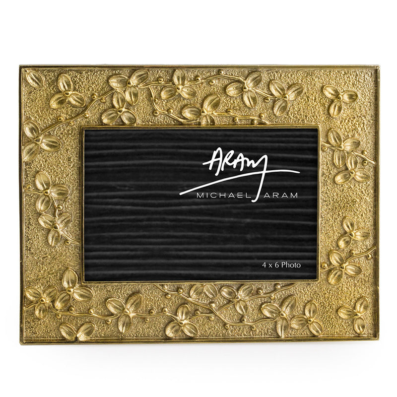 goldtone picture frame by Michael Aram