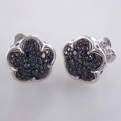 Pasquale Bruni Bon Ton White Gold Black Diamond Stud Earrings 18K .82 Carats