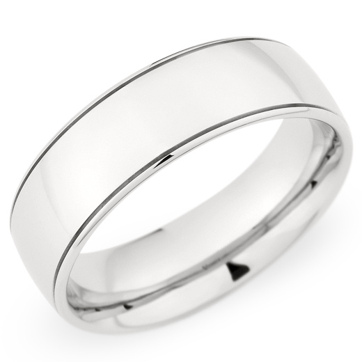 Christian Bauer Men's Palladium High Polish 7mm Wedding Band Ring
