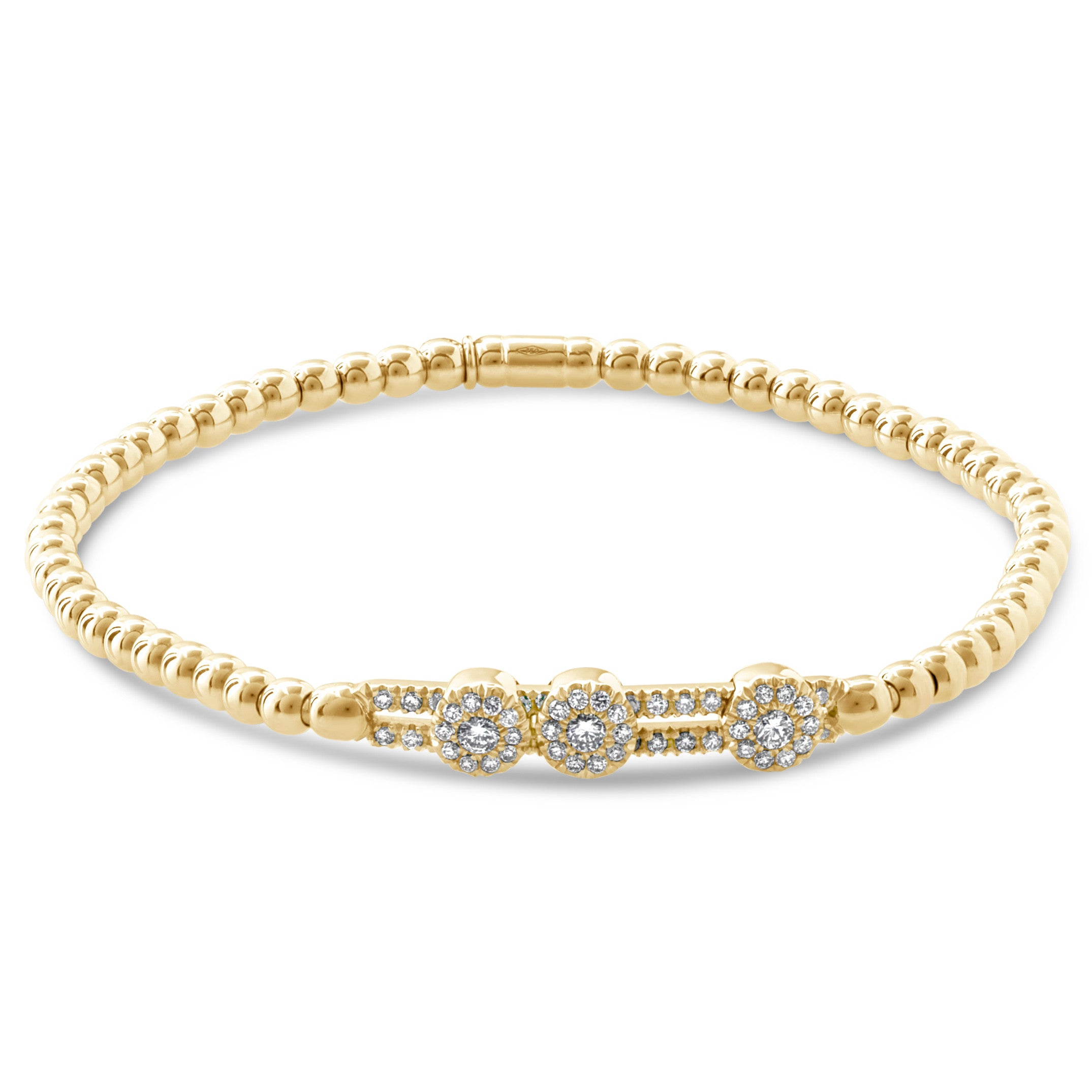 diamond b stackable bangle gold filigree in bangles white with black bracelets shape bracelet heart jewelry pave