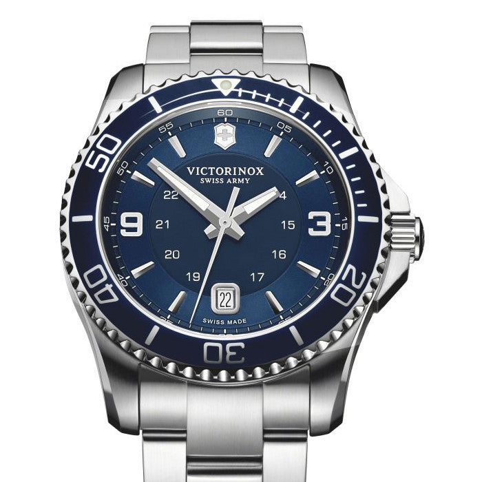Victorinox Swiss Army Mens 43MM Blue Maverick Watch 241602