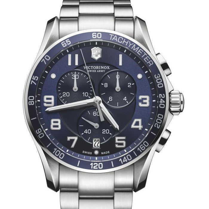 Swiss Army Classic XL Chronograph 45MM Blue Dial Watch 241652