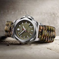 victorinox green inox mens watch