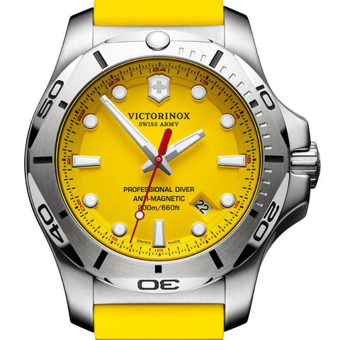 INOX yellow swiss army mens watch