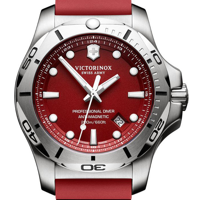 241736 INOX mens red watch