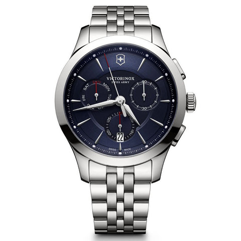 mens watch with a blue dial by swiss army 241746