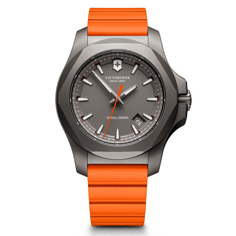Swiss Army I.N.O.X 43MM Titanium Quartz Orange Strap Watch 241758