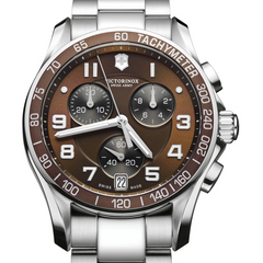 Victorinox Swiss Army Chrono Classic Brown Dial Steel Watch 249036
