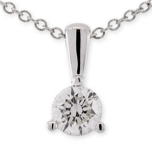 Forevermark Round Diamond Solitaire Pendant Necklace