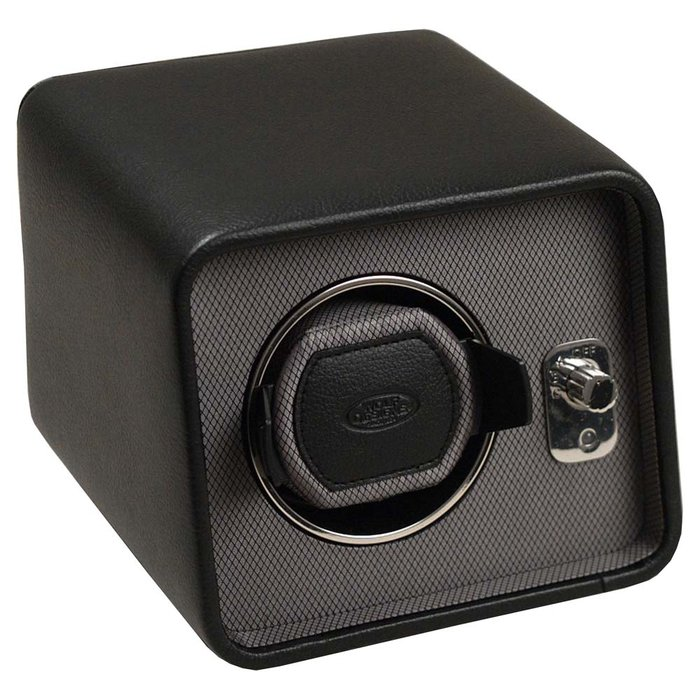 Wolf Designs Windsor Single Module 2.5 Watch Winder Black Leather