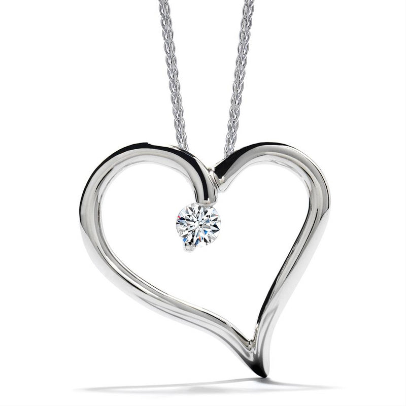 Hearts on Fire Amorous Diamond Heart Pendant Necklace