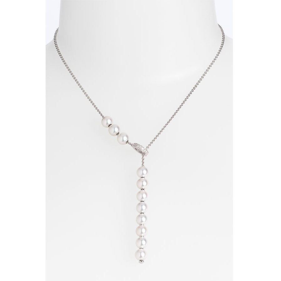 Mikimoto Pearls in Motion Akoya White Gold Necklace